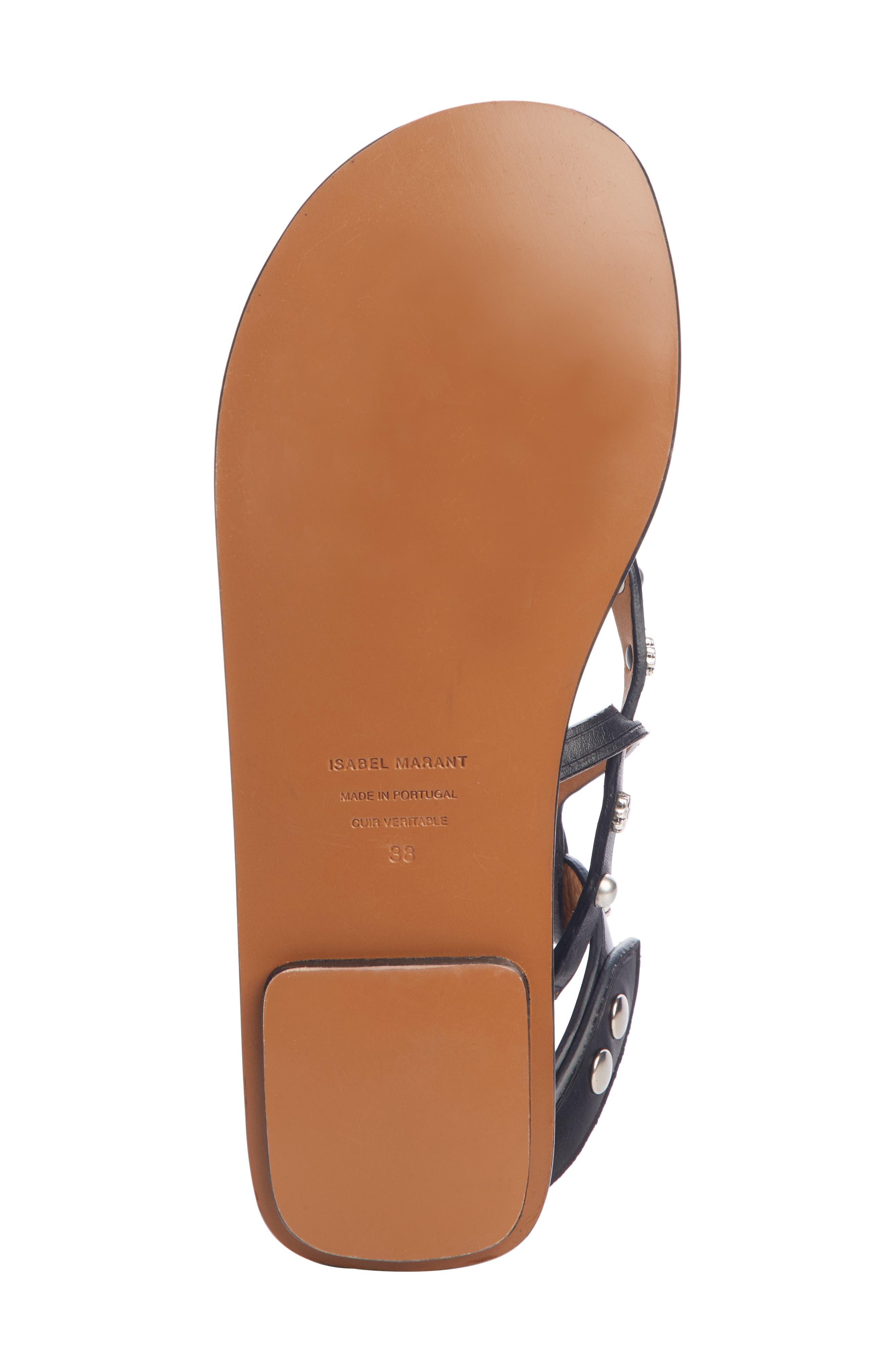 ,                             Engo Flower Studded Gladiator Sandal,                             Alternate thumbnail 5, color,                             001