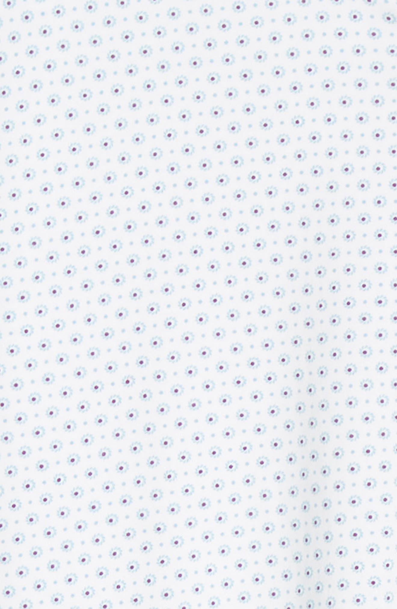 ,                             Regular Fit Geo Print Performance Knit Sport Shirt,                             Alternate thumbnail 6, color,                             LIGHT BLUE