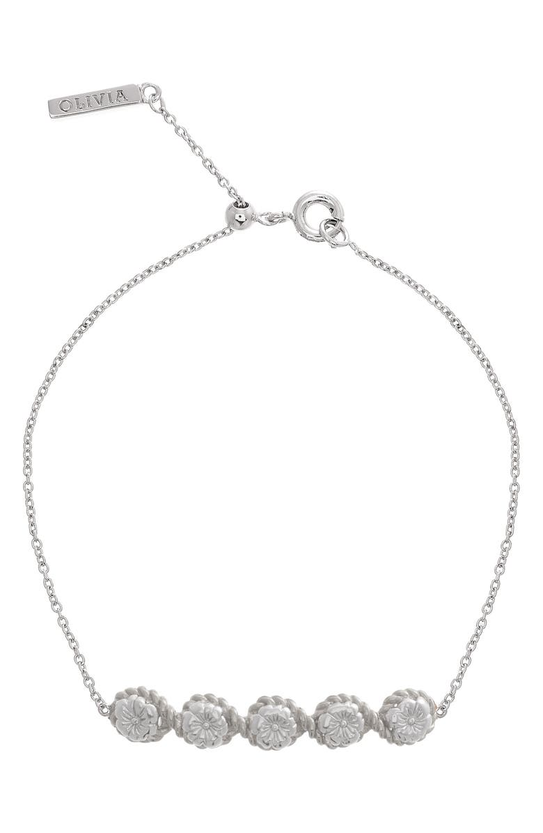 OLIVIA BURTON Flower Show Rope Chain Bracelet, Main, color, 040