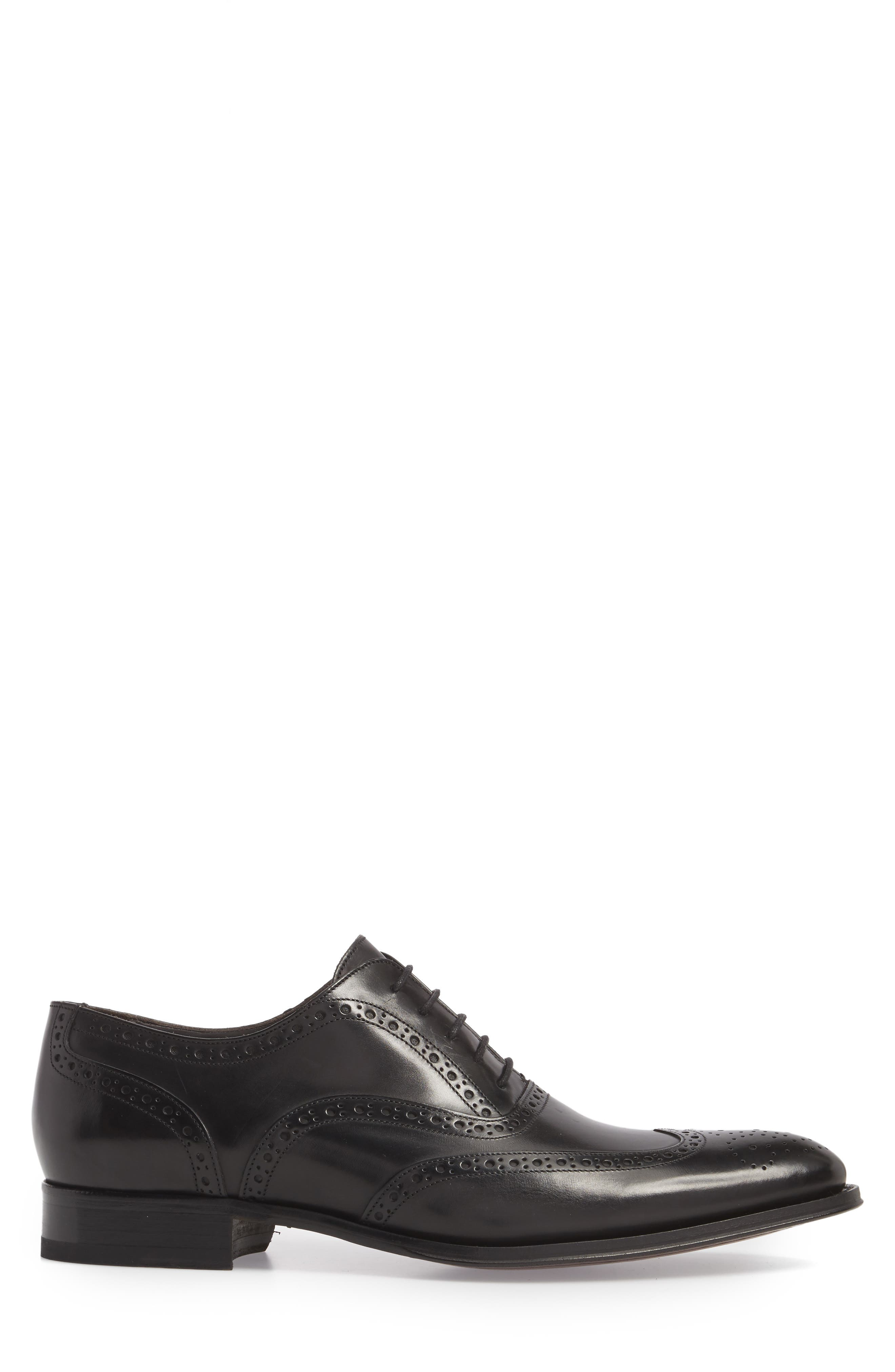 ,                             Milton Wingtip Oxford,                             Alternate thumbnail 3, color,                             BLACK LEATHER