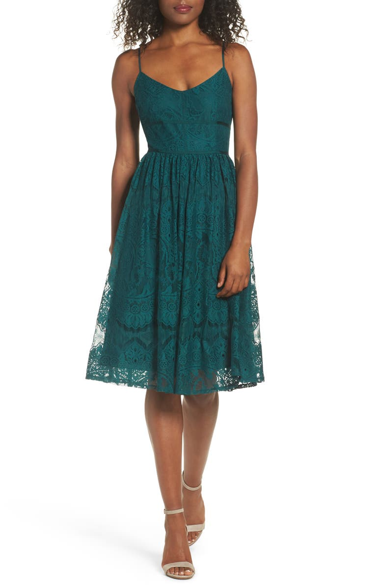 BB DAKOTA Galena Fit & Flare Dress, Main, color, 322