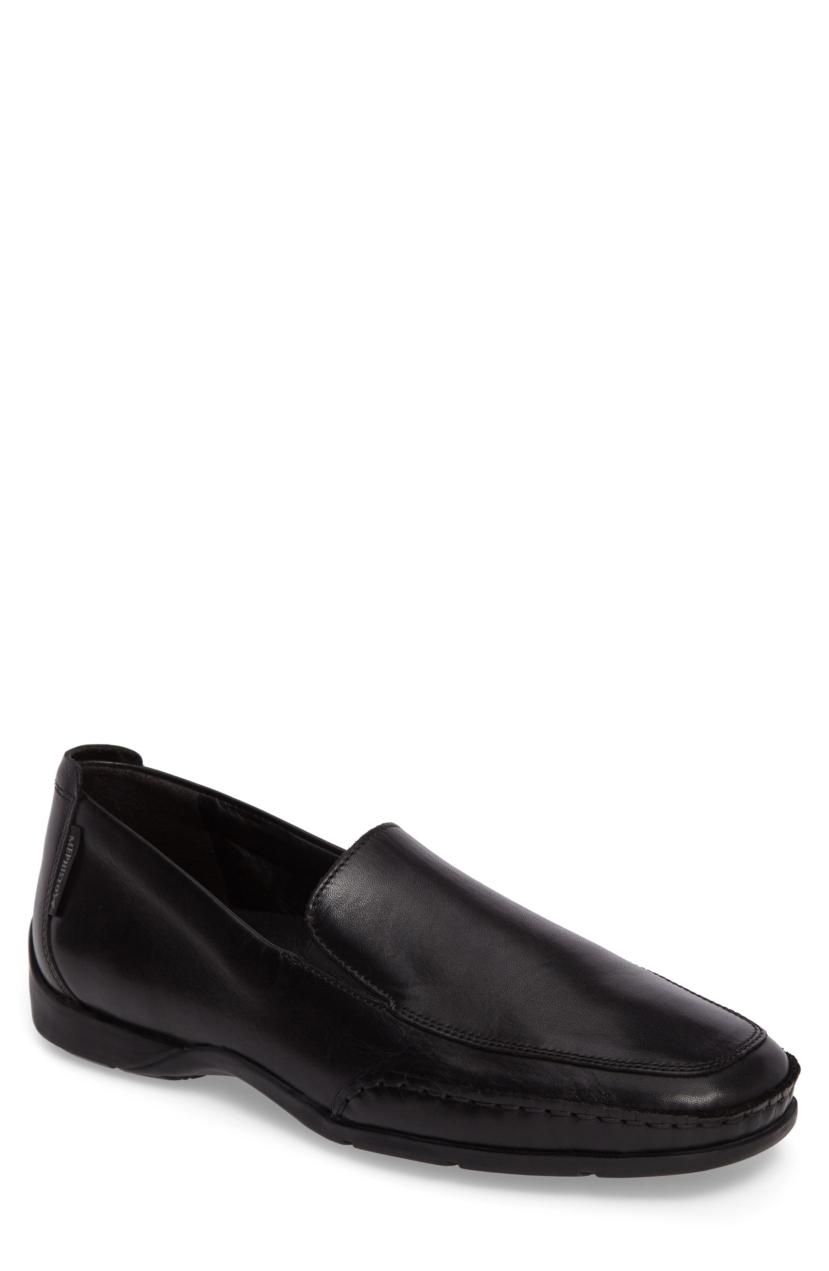'Edlef' Slip-On, Main, color, BLACK SMOOTH LEATHER
