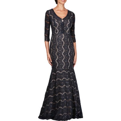 Alex Evenings Sequin Lace Mermaid Gown