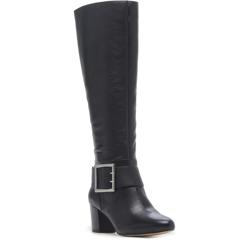 SOLE SOCIETY Pashan Knee High Boot, Main, color, BLACK SUEDE
