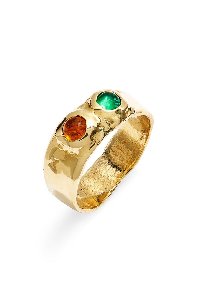 MONDO MONDO Felt Ring, Main, color, GREEN YELLOW