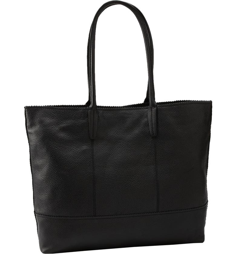 HALOGEN<SUP>®</SUP> Python Embossed Leather Tote, Main, color, 001