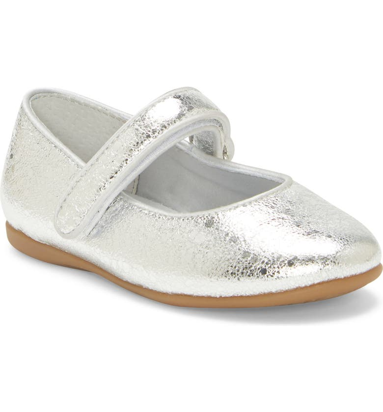 SOLE PLAY Polina Metallic Mary Jane Flat, Main, color, SILVER