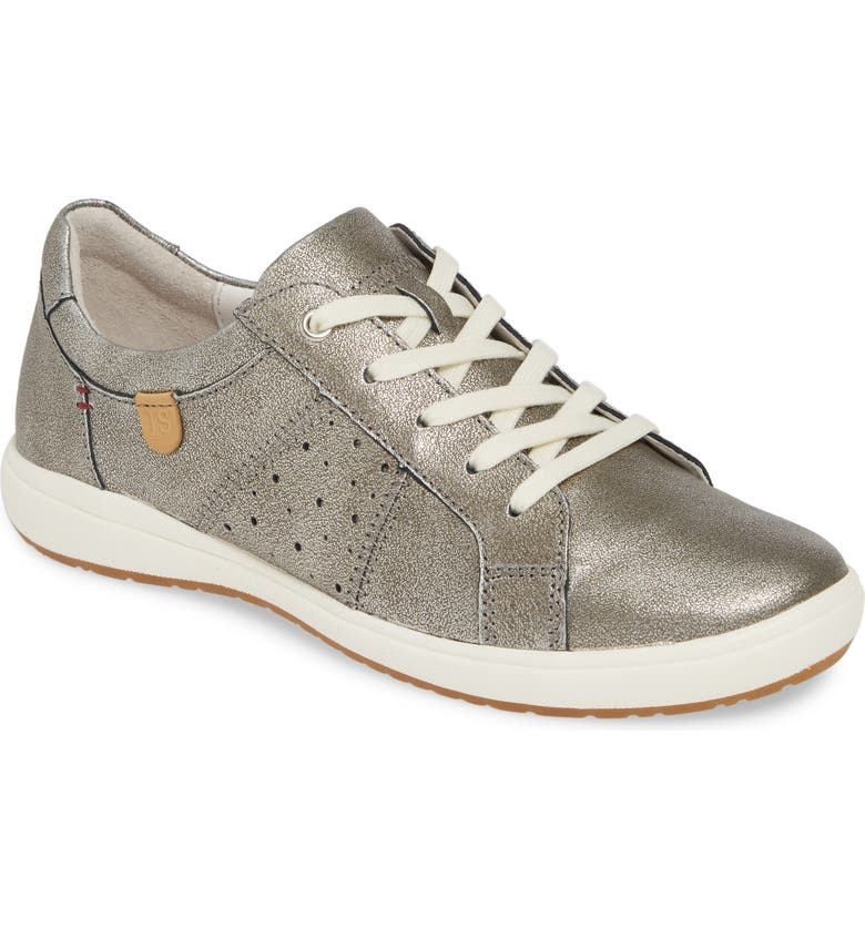 JOSEF SEIBEL Caren 01 Sneaker, Main, color, PLATIN METALLIC LEATHER
