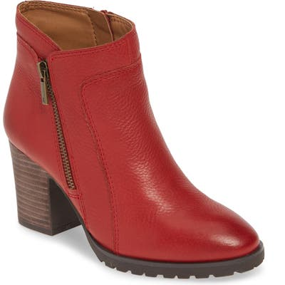 Lucky Brand Nilafa Waterproof Bootie- Red