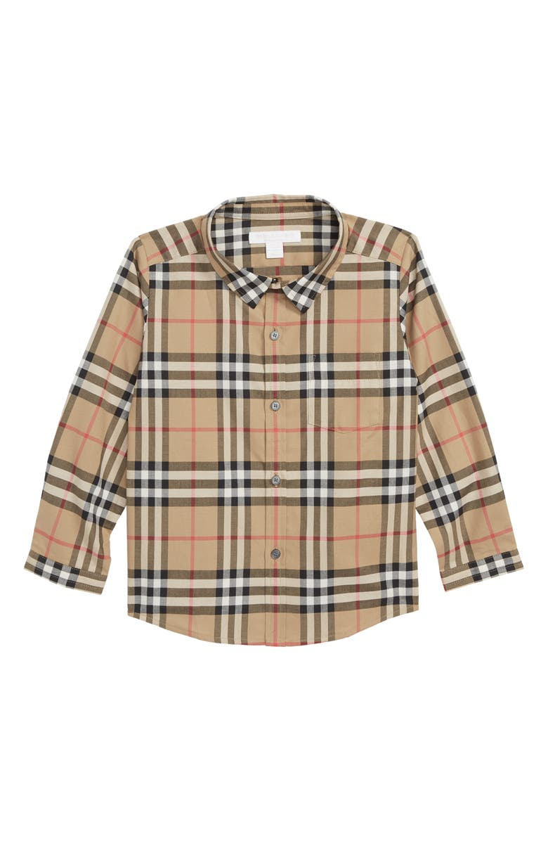 BURBERRY Fred Check Shirt, Main, color, 250