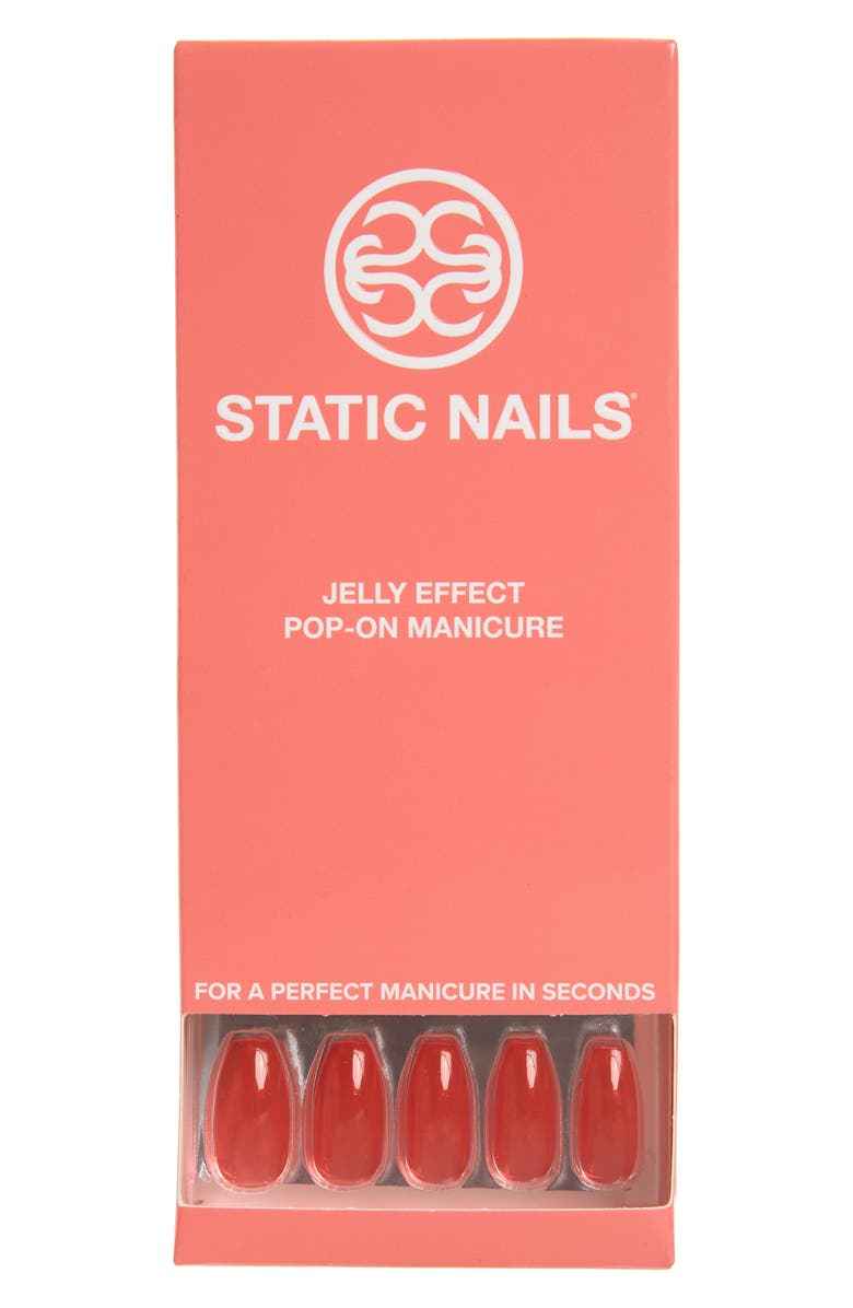 STATIC NAILS Sun Babe Pop-On Reusable Manicure Set, Main, color, SUN BABE COFFIN