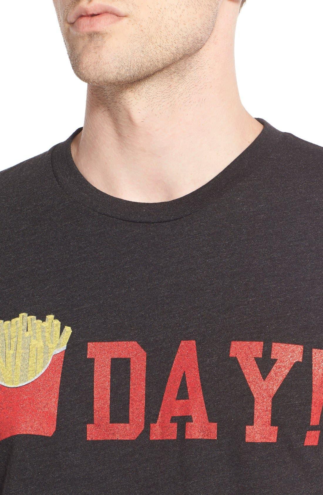 ,                             'Fry Day' Crewneck T-Shirt,                             Alternate thumbnail 4, color,                             001