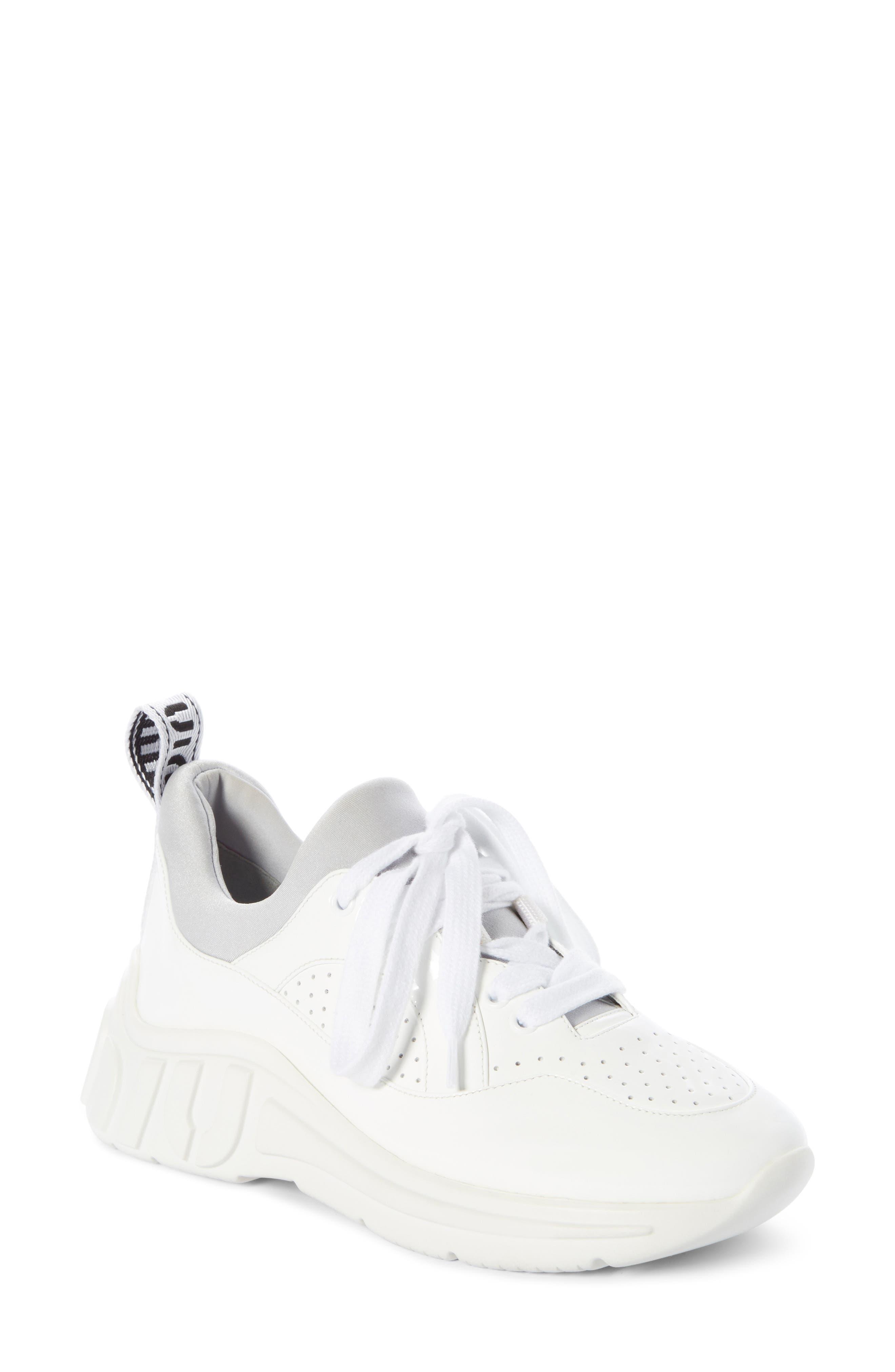 Logo Sole Sneaker, Main, color, WHITE
