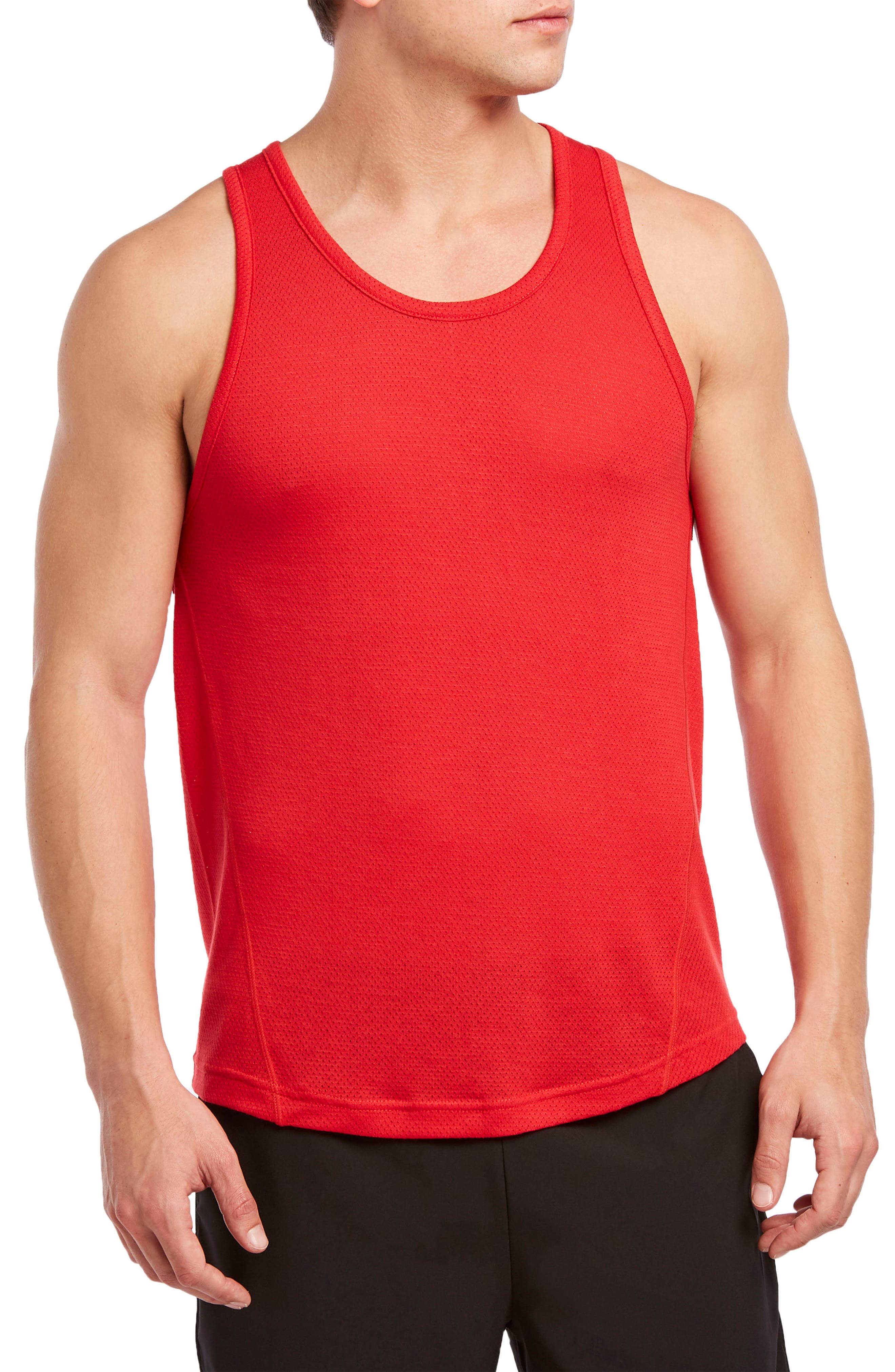 2(X)Ist Mesh Muscle Tank, Red