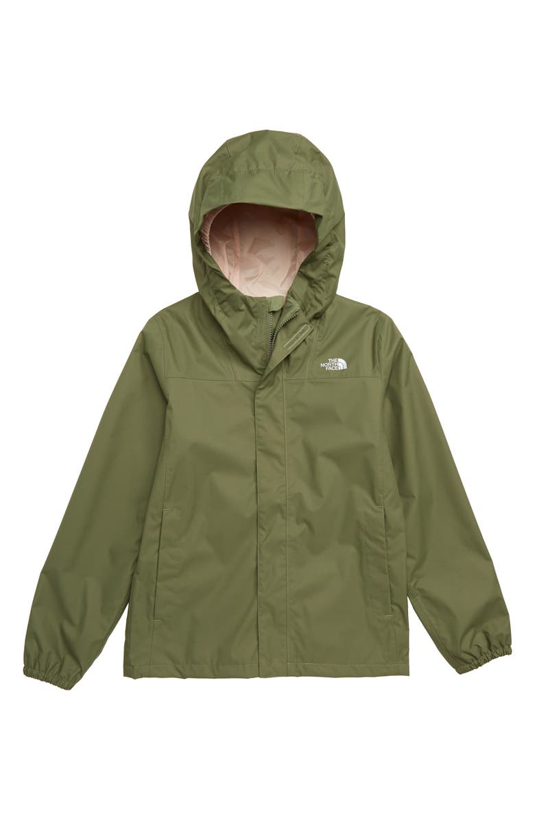 THE NORTH FACE Resolve Reflective Waterproof Jacket, Main, color, FOUR LEAF