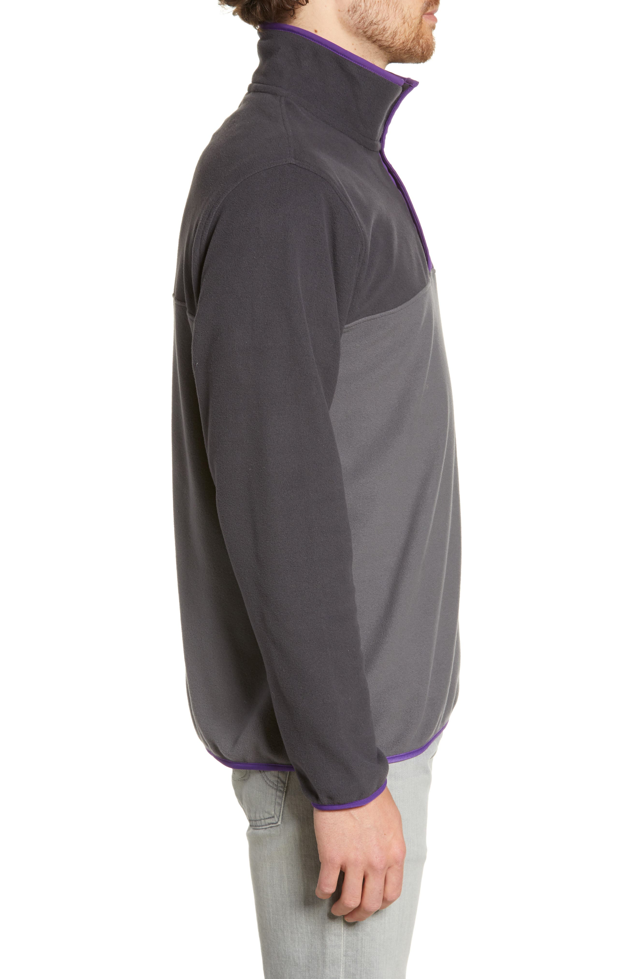 ,                             Micro-D<sup>®</sup> Snap-T<sup>®</sup> Fleece Pullover,                             Alternate thumbnail 4, color,                             FORGE GREY