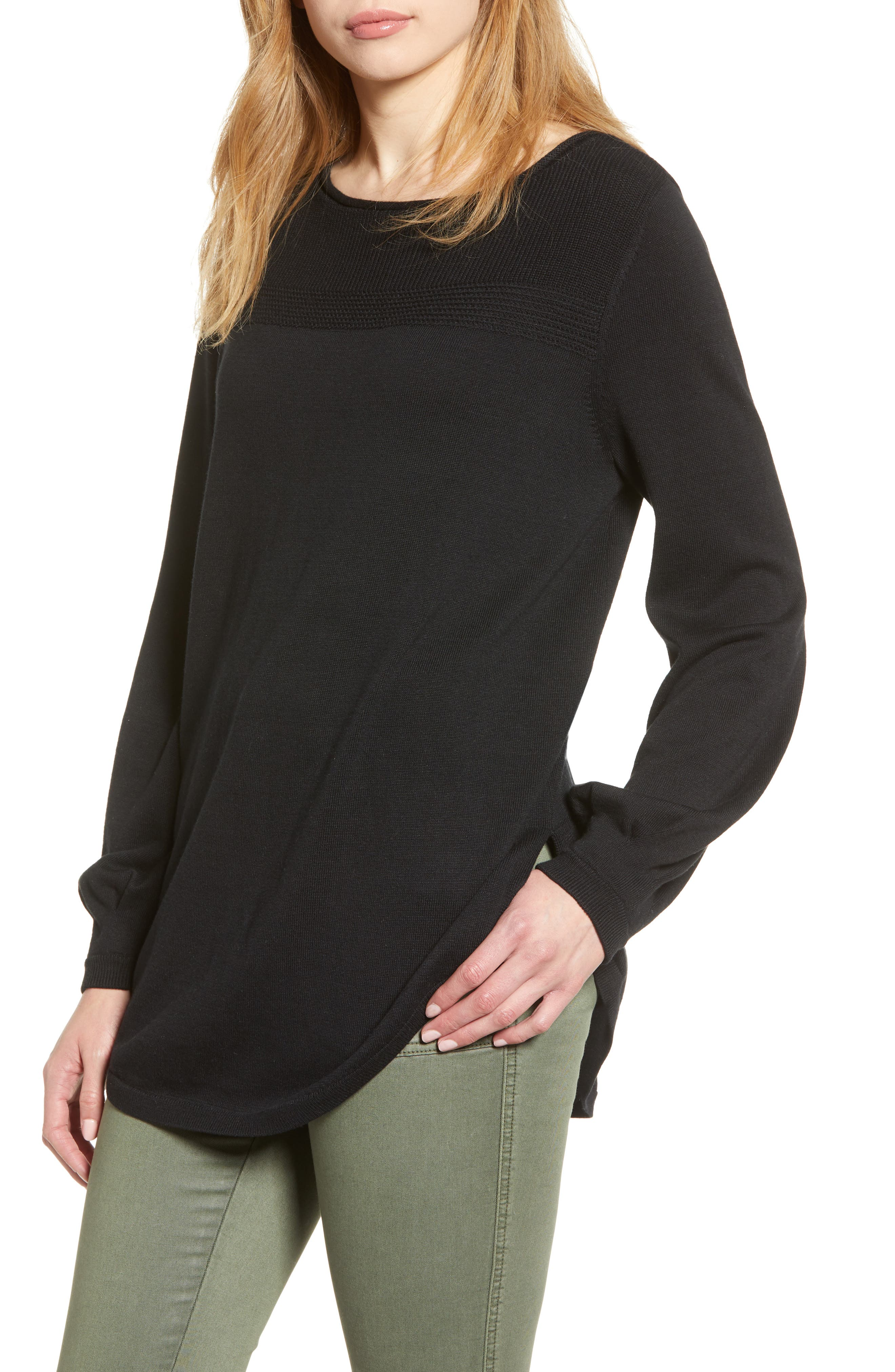 Caslon® Bishop Sleeve Sweater