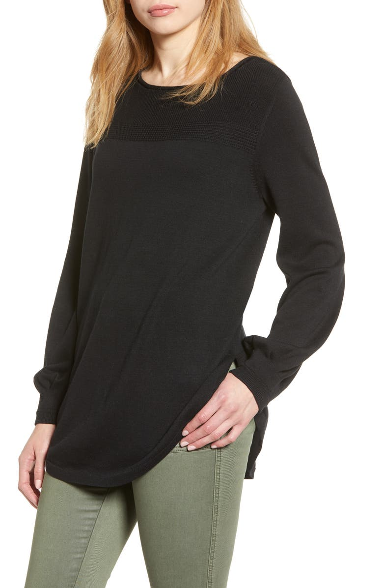 CASLON<SUP>®</SUP> Bishop Sleeve Sweater, Main, color, 001