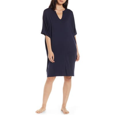 Barefoot Dreams Luxe Jersey Nightgown, Size One Size - Blue