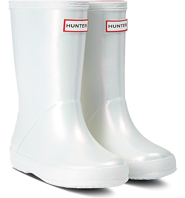 HUNTER First Classic Nebula Waterproof Rain Boot, Main, color, SILVER