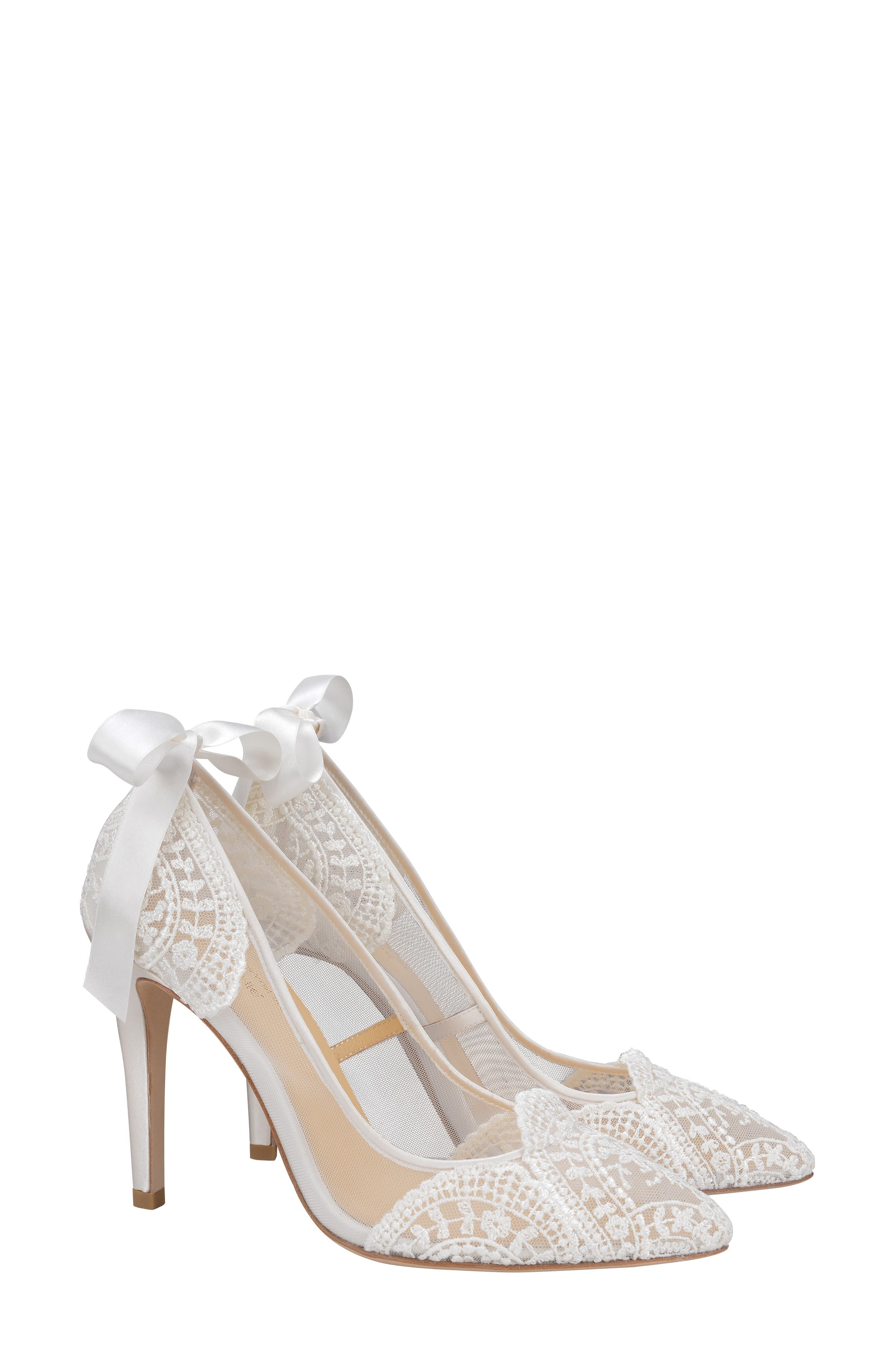 Giselle Pump, Main, color, IVORY FABRIC
