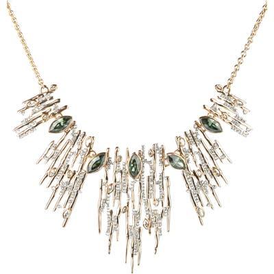 Alexis Bittar Navette Crystal Bib Necklace