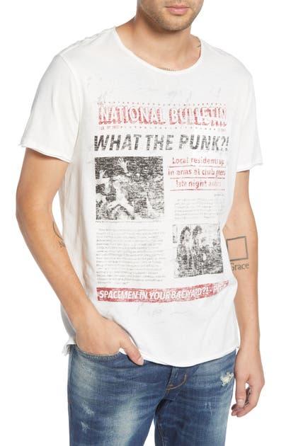 John Varvatos T-shirts PUNK PAPER RAW EDGE T-SHIRT
