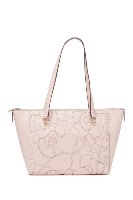 Image of DKNY Sara Abstract Print Leather Tote Bag