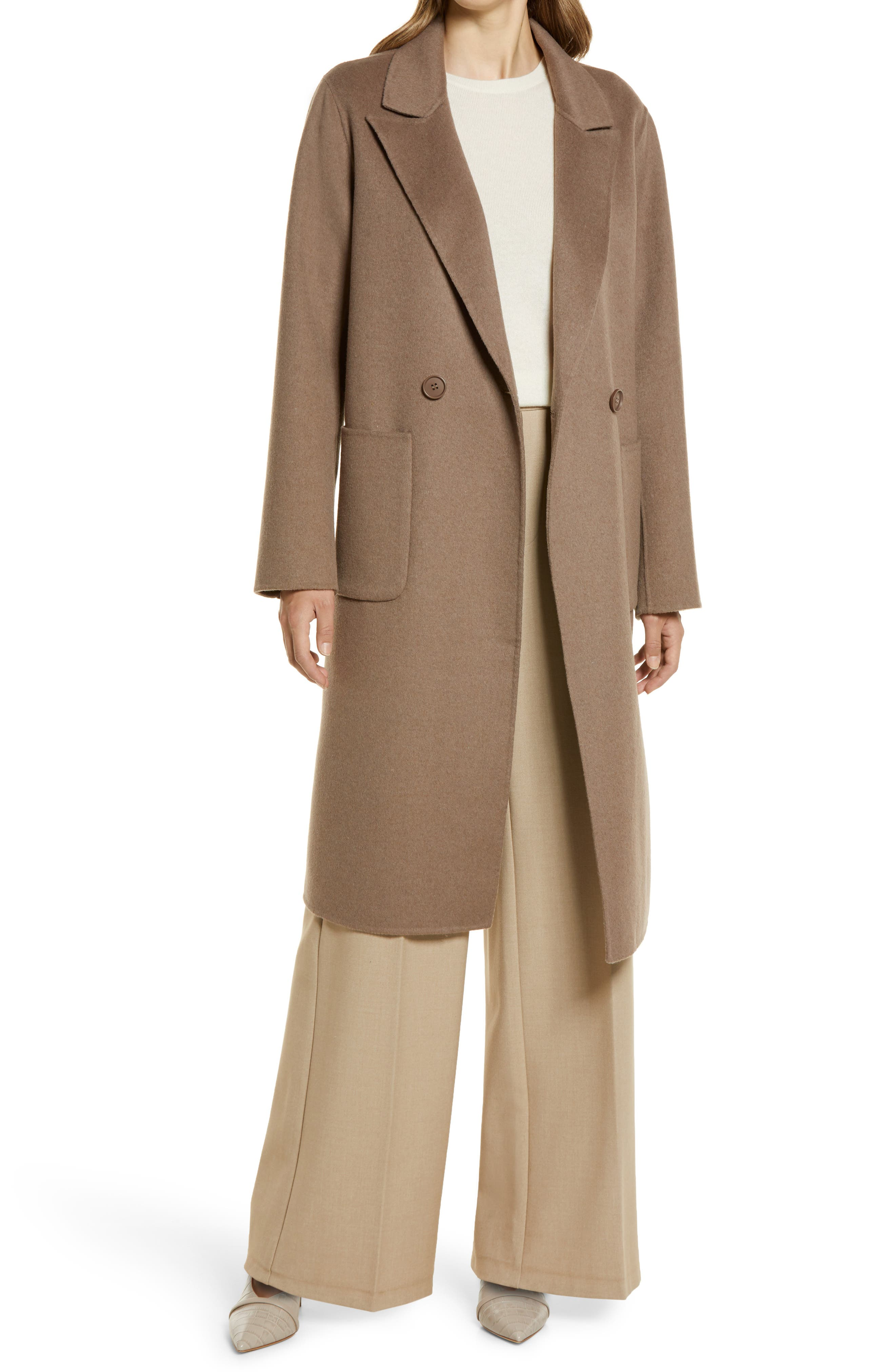 Women's Halogen Double Face Wool Coat