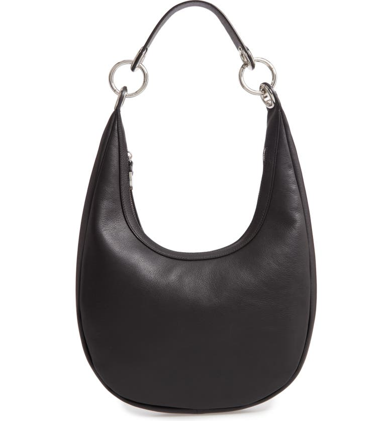 REBECCA MINKOFF Sofia Leather Hobo Bag, Main, color, BLACK