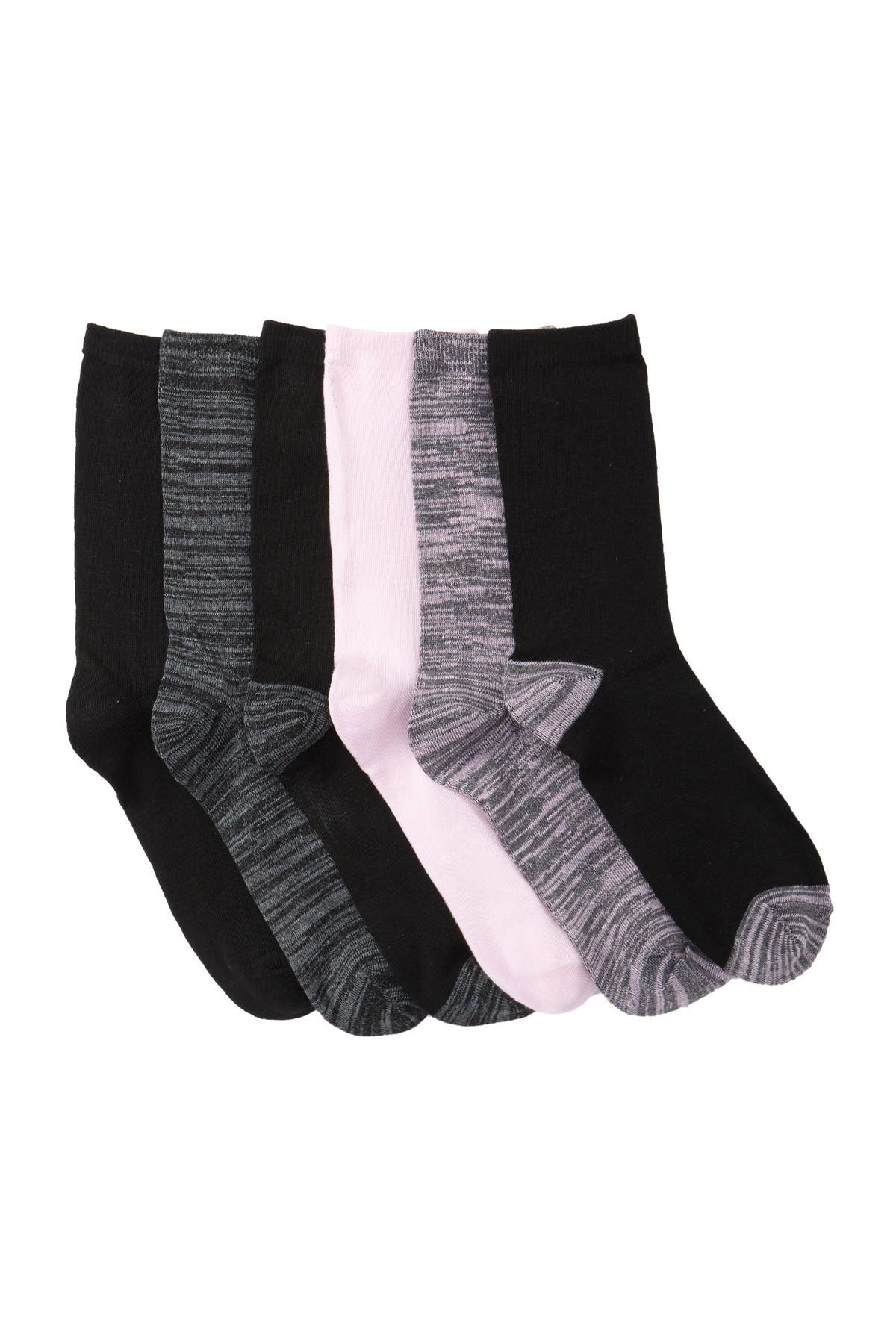 Image of Jessica Simpson Random Knit Crew Socks - Pack of 6