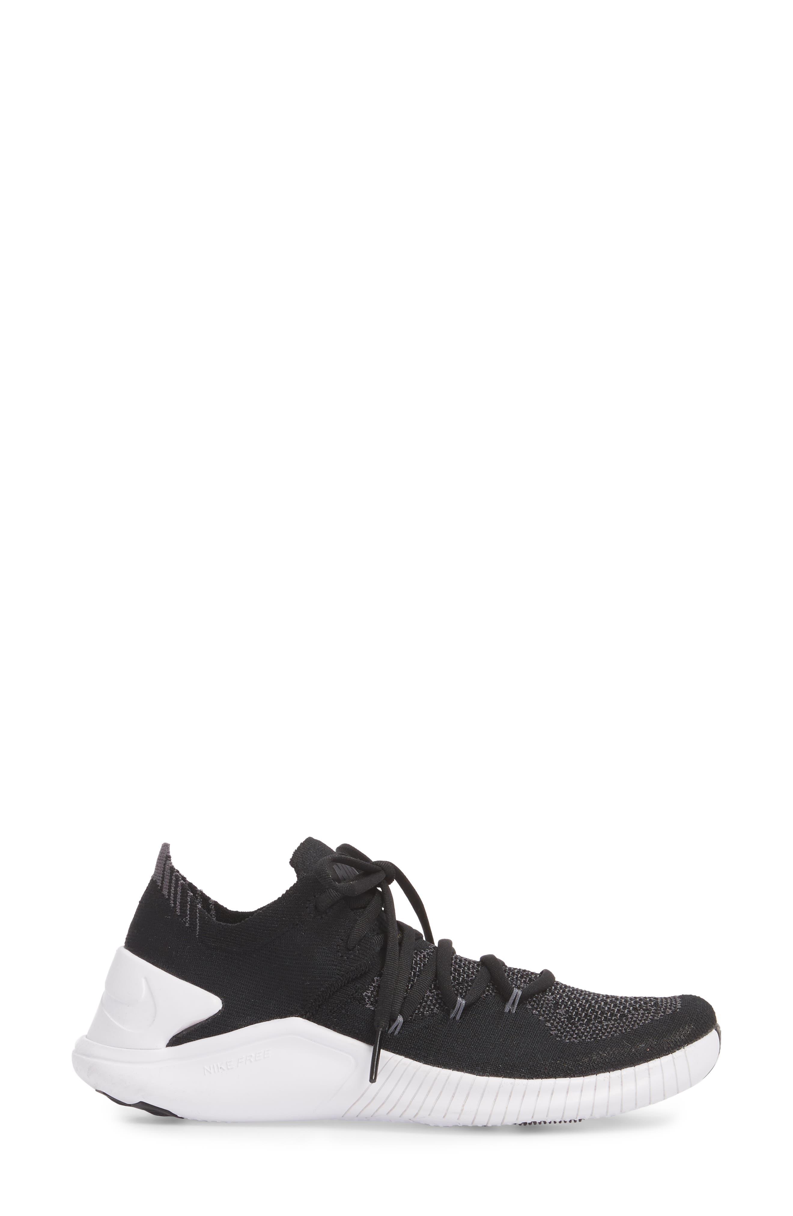 ,                             Free TR Flyknit 3 Training Shoe,                             Alternate thumbnail 3, color,                             001