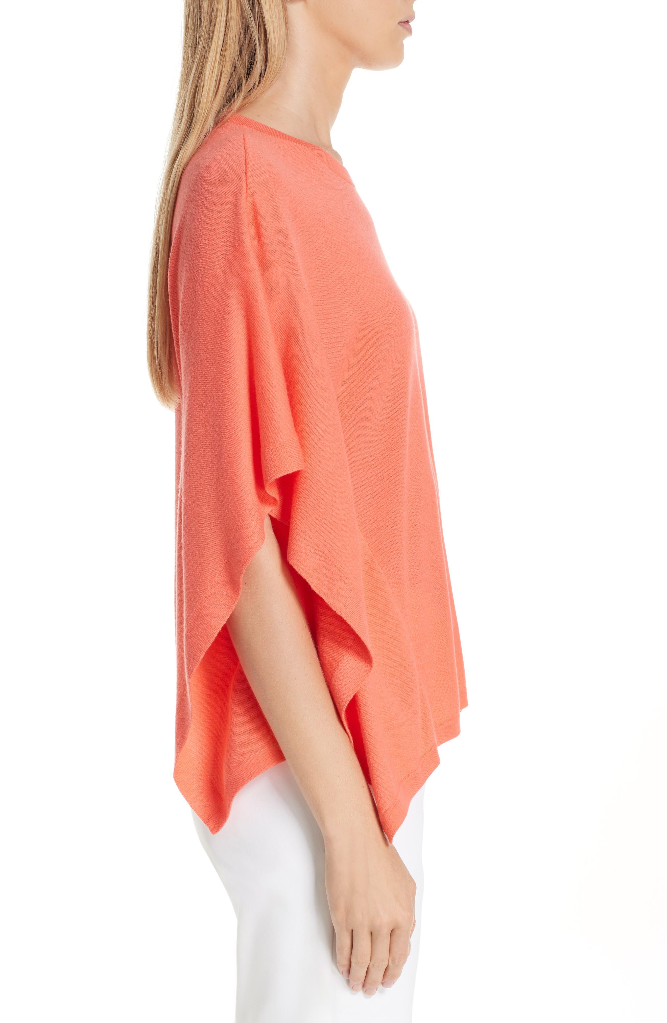 ,                             Float Jacquard Merino Wool Butterfly Sweater,                             Alternate thumbnail 3, color,                             BLOSSOM