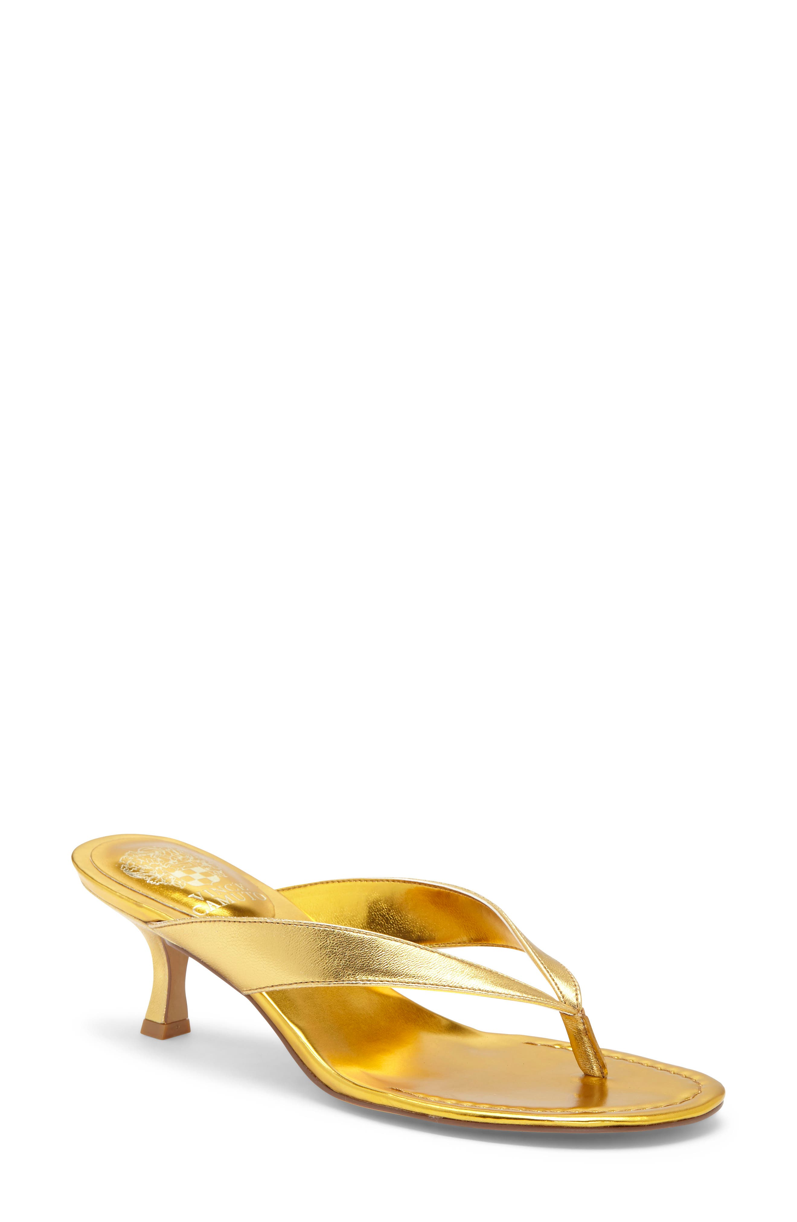 A curvy kitten heel gives a just-right boost to an elevated flip-flop that\'s equal parts easy and sophisticated. Style Name: Vince Camuto Marlinda Kitten Heel Flip Flop (Women). Style Number: 6027946. Available in stores.