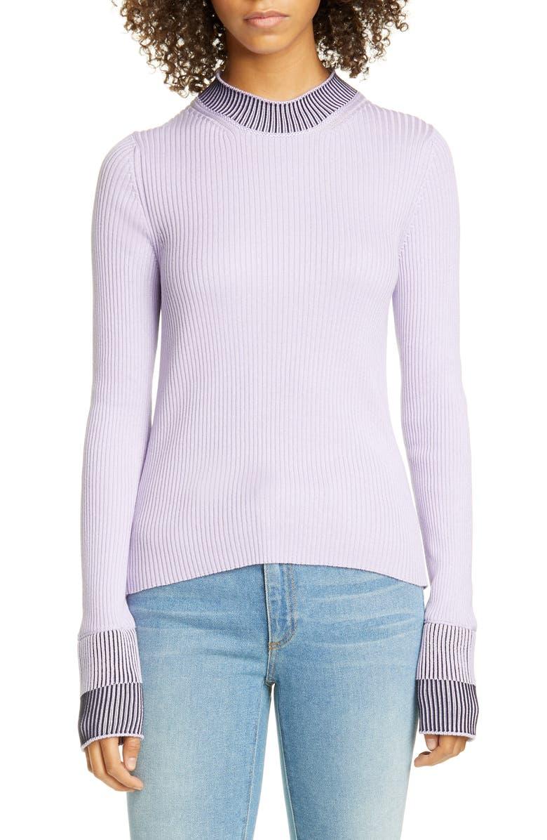 MAISON MARGIELA Contrast Rib Cotton Blend Sweater, Main, color, 531