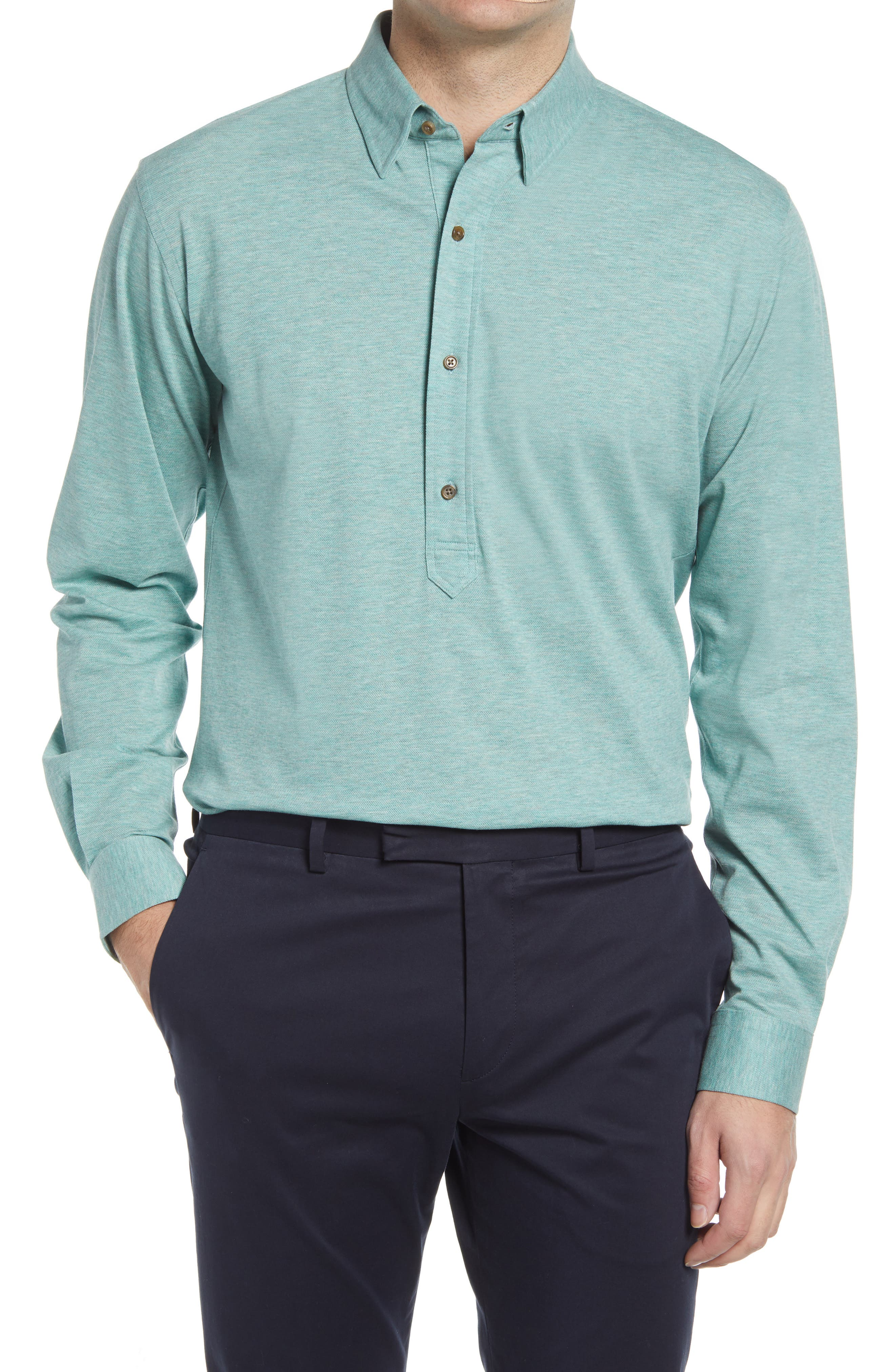 Harris Tailored Fit Popover Shirt
