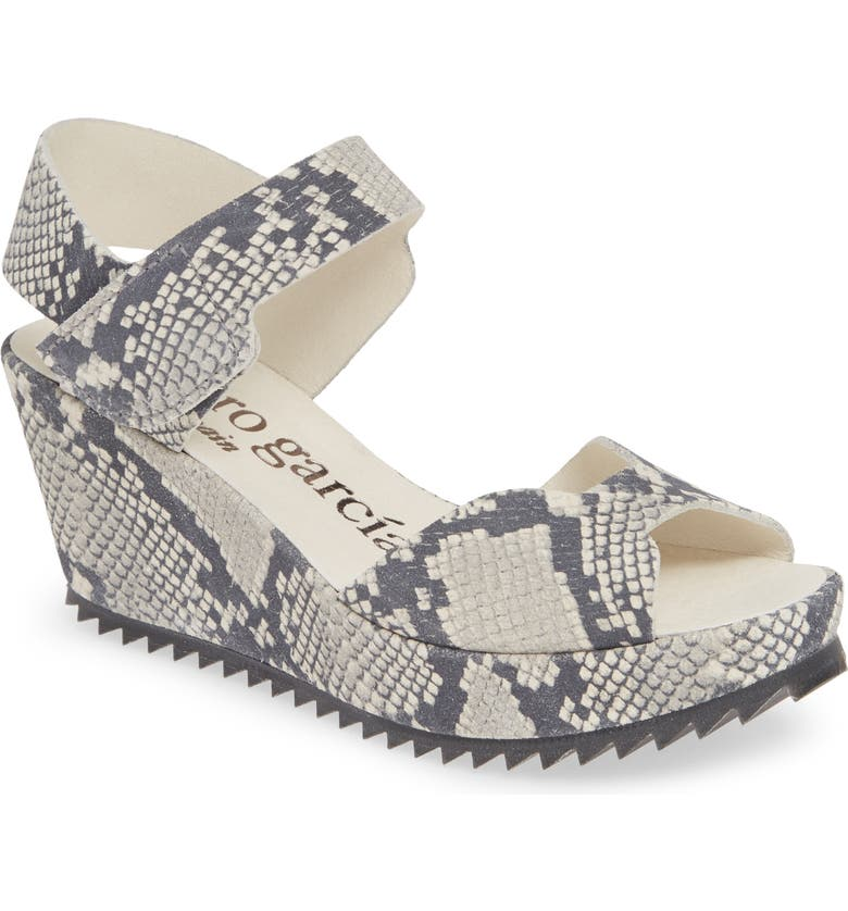 PEDRO GARCIA 'Fama' Wedge Sandal, Main, color, PYTHON CASTORO