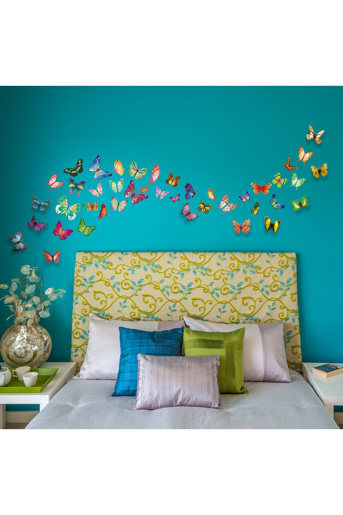 Image of WalPlus Colourful Butterflies Decal with 3D Effect