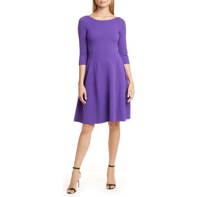 Emporio Armani Jersey Wave Fit & Flare Dress, 8 IT - Purple