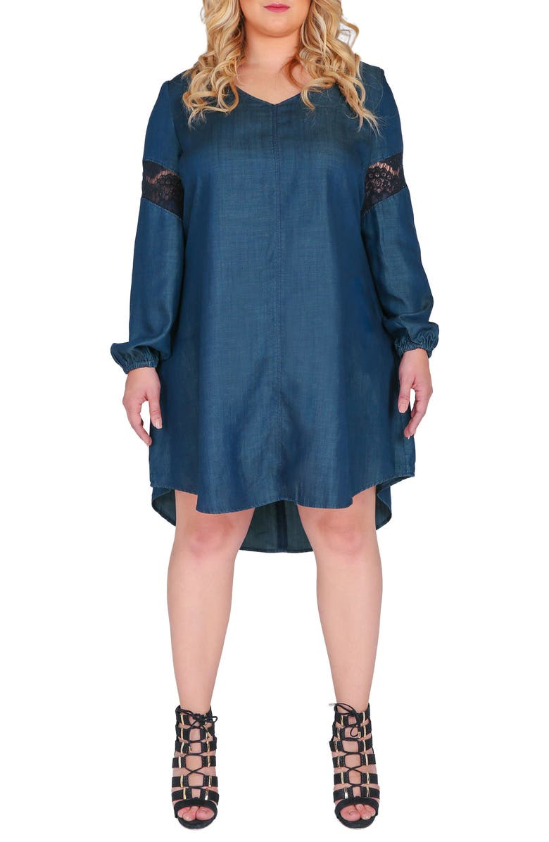 STANDARDS & PRACTICES Shelby Shift Dress, Main, color, BLUE