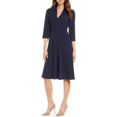 Vince Camuto V-Neck A-Line Dress