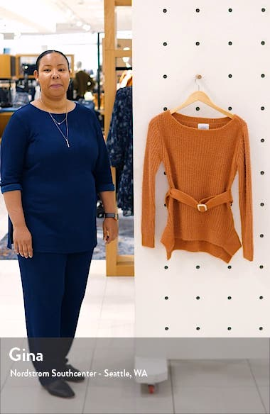 J.O.A Shaker Stitch Belted Sweater, sales video thumbnail