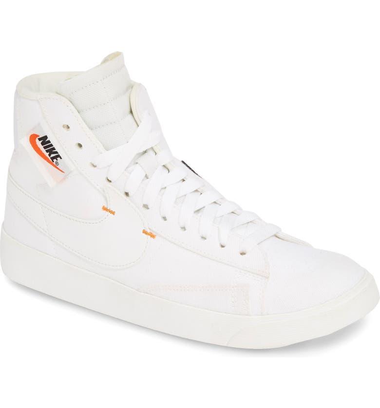 NIKE Blazer Mid Rebel Sneaker, Main, color, WHITE/ PLATINUM TINT/ WHITE