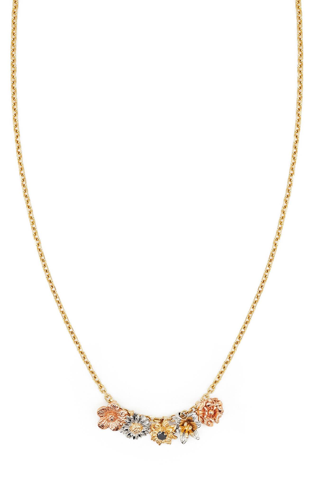 Flora Charm 14K Gold Necklace
