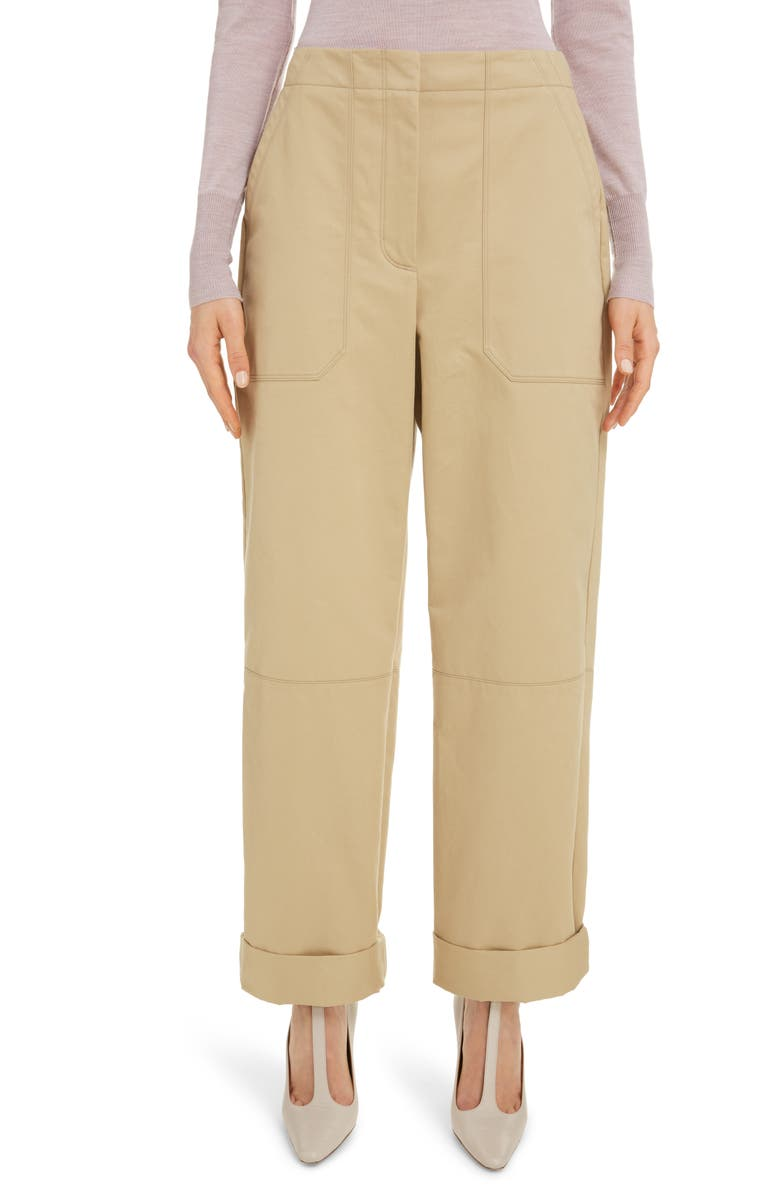 ROKSANDA Contrast Pocket Cotton Twill Pants, Main, color, 250