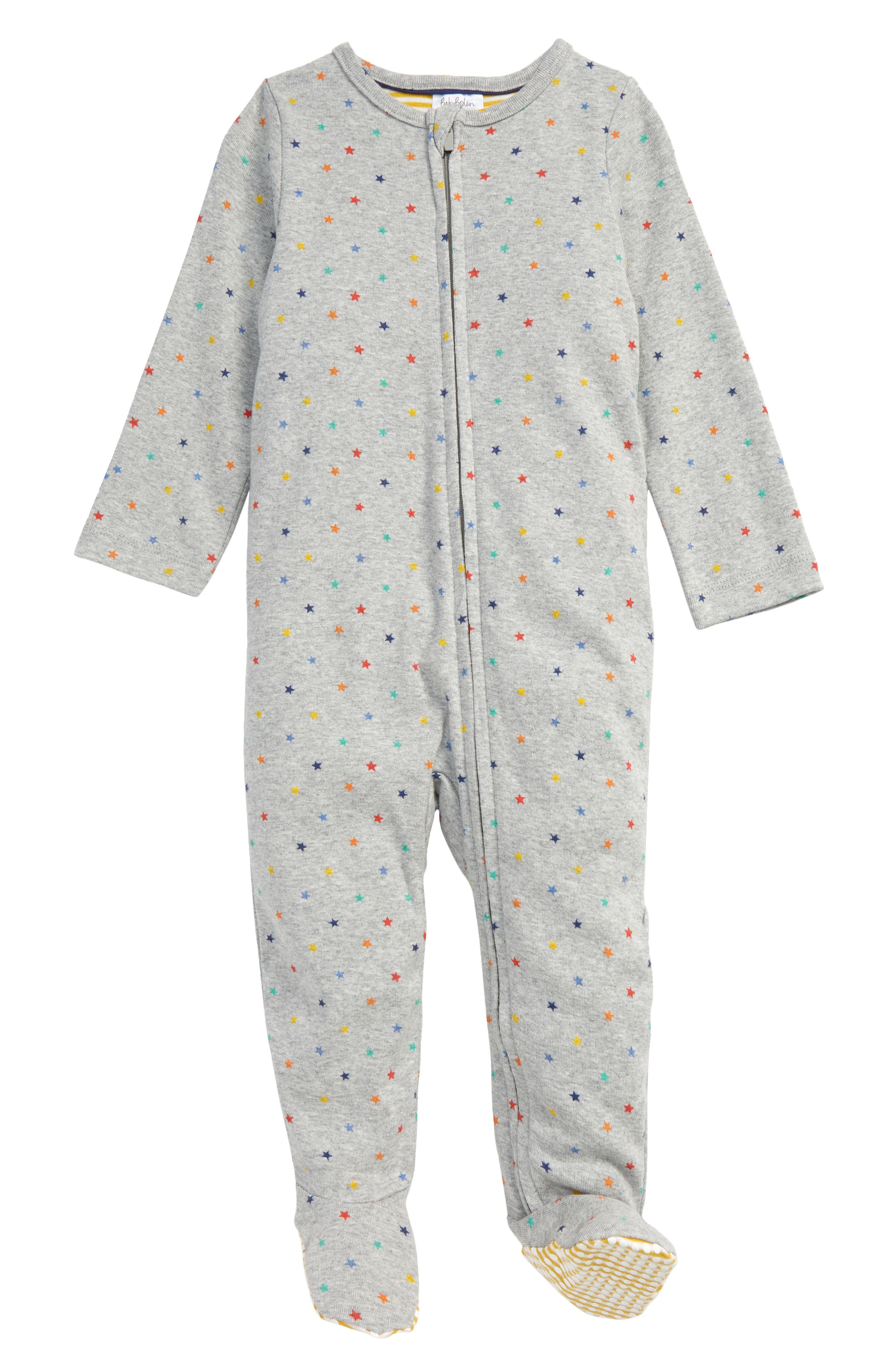 Teeny stars are sprinkled throughout the constellation of this charming zip-up sleepsuit ensuring the wearer dreams of a career in astronomy. Style Name: Mini Boden Zip Sleepsuit (Baby). Style Number: 6097391. Available in stores.