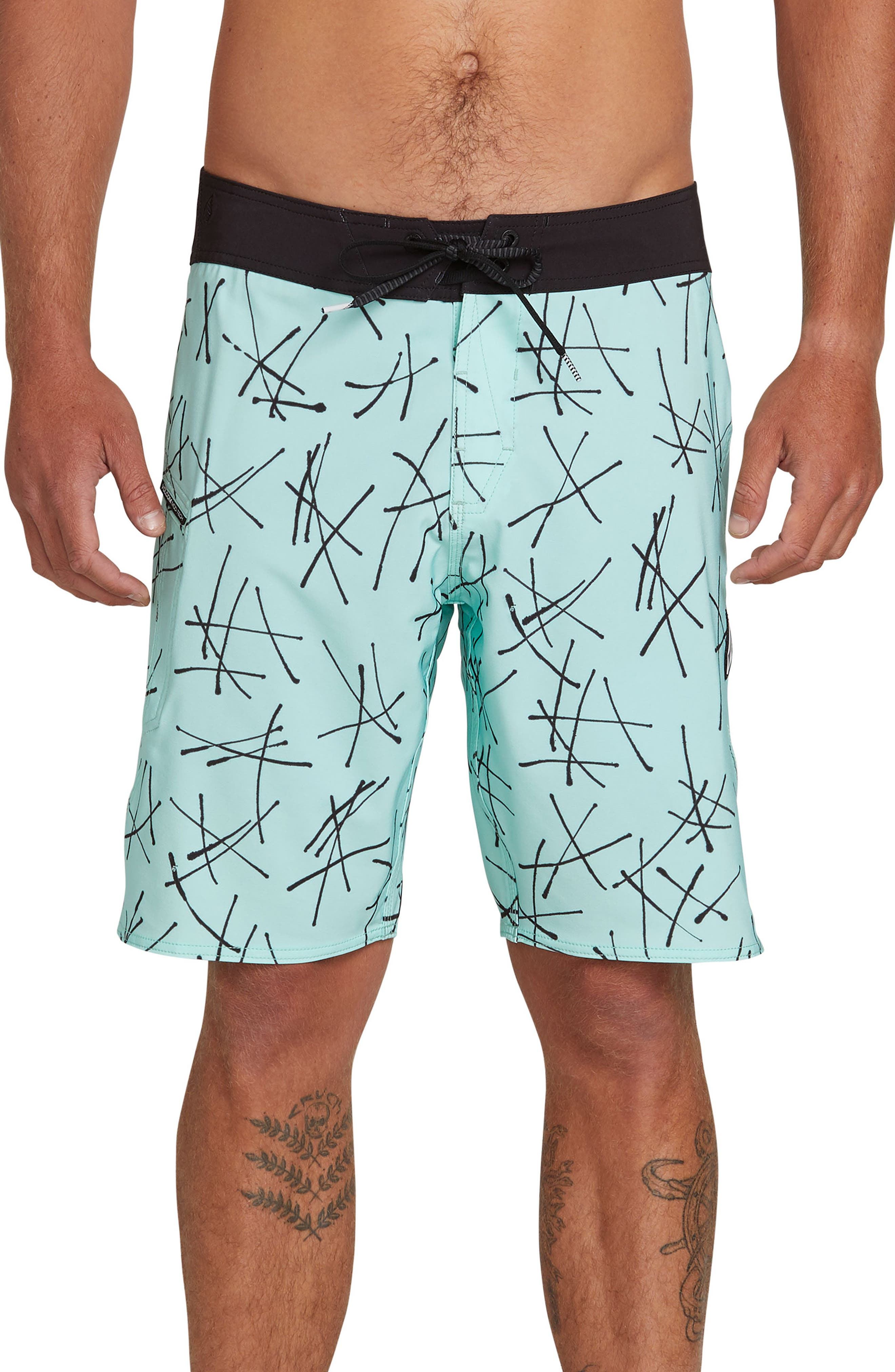Volcom Crossed Up Board Shorts, Green