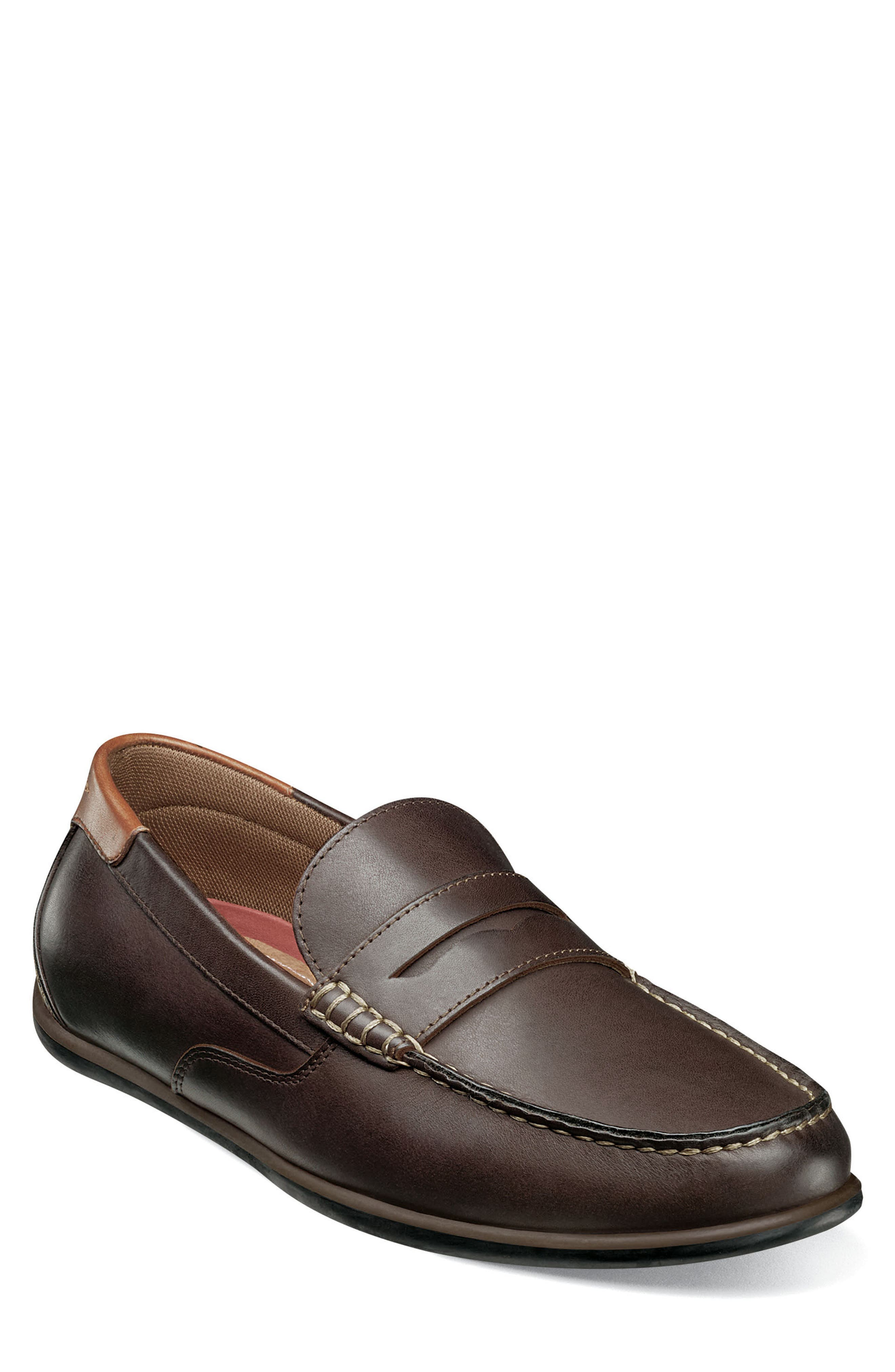 Image of Florsheim Sportster Leather Penny Loafer - Wide Width
