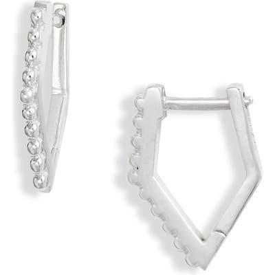 Anzie Cleo Geometrice Dewdrop Huggie Hoop Earrings