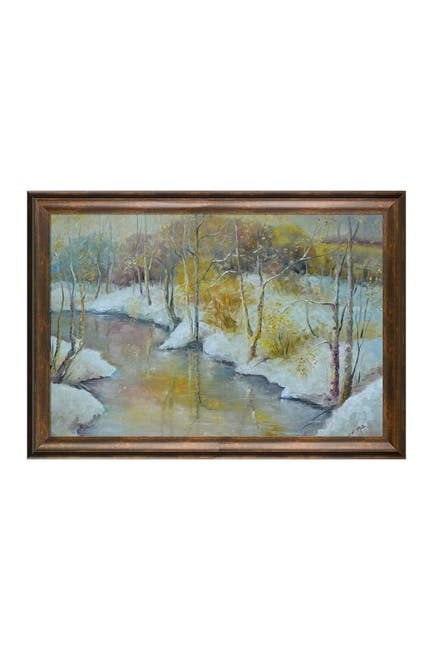 """Image of Overstock Art Early Winter with Modena Vintage Frame - 29"""" x 41"""""""